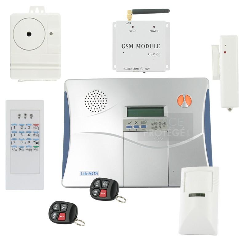 systeme alarme sans fil gsm