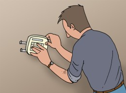 centrale alarme installation fixation