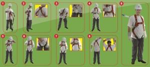 mettre un harnais de sécurité